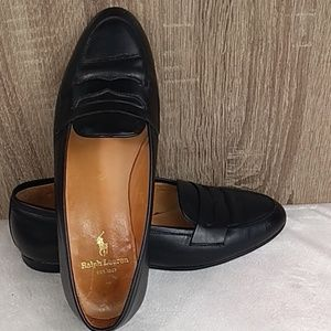 Ralph Lauren wooden vintage bottom flats loafers